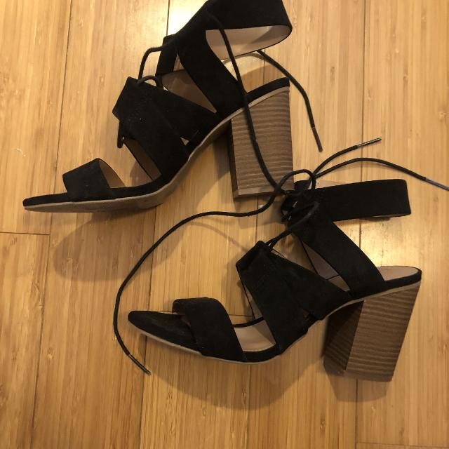 9a7f39aa0d29 Find more Target Mossimo Black Tie Heels Size 9 for sale at up to 90 ...