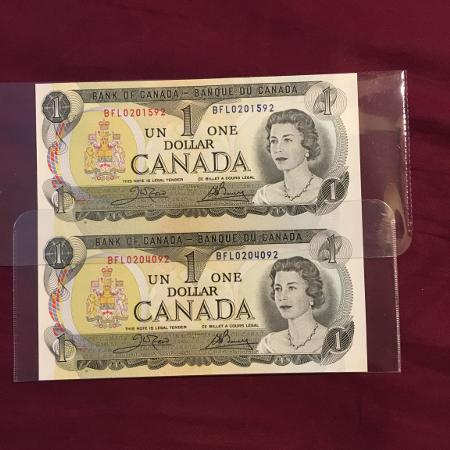 Uncut-uncirculated Canadian bills for sale  Canada