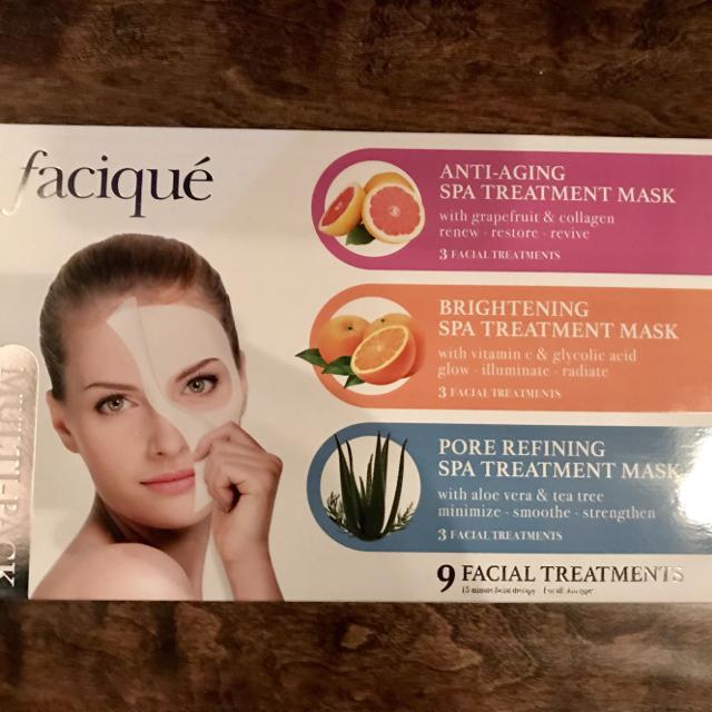 NEW IN BOX Facique 15 minute facial therapy for all skin types  9 facial  treatments