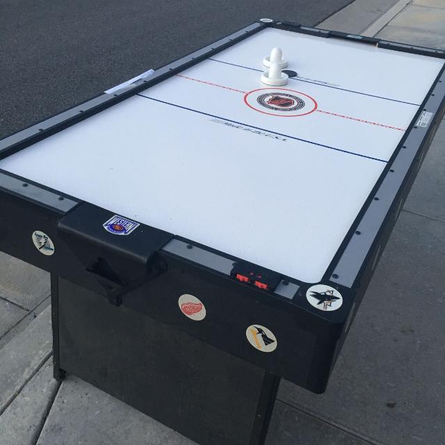 Find more free air hockey table curb pickup first come first serve free air hockey table curb pickup first come first serve needs work on greentooth Gallery