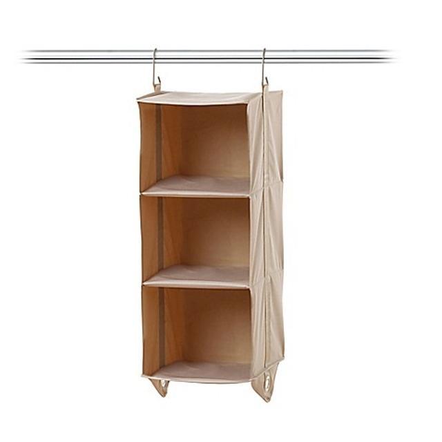 Nwot 3 Shelf Closet Organizer In Taupe