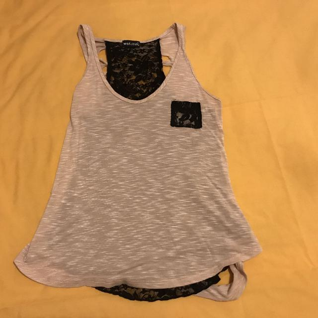 Find More Wet Seal Sexy Cut Back Black Lace Tee Size Xl