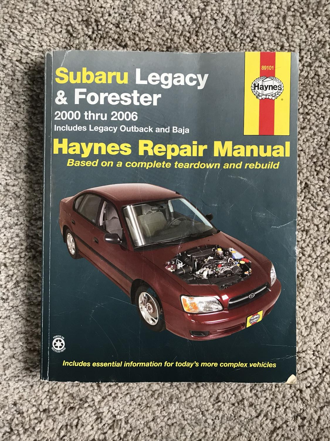 Best Subaru Legacy & Forester Repair Manual for sale in Richmond, Virginia  for 2018