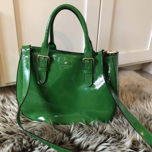 Kate Spade Green Patent Purse Super Cute For Spring Or Summer