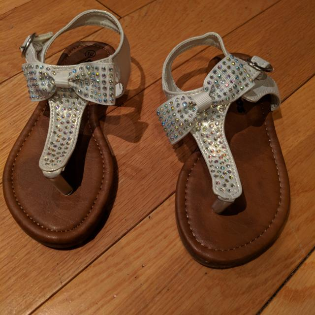 3ba2fd2b49bf96 Find more Brand New Super Cute Sandals - White With Rainbow ...