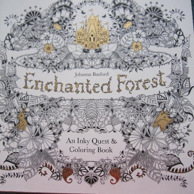 ENCHANTED FOREST Adul Coloring Book By Johanna Basford