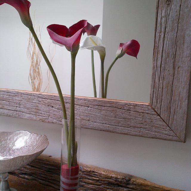 Find More Ikea Tall Faux Calla Lily Arrangement In Glass Vase For