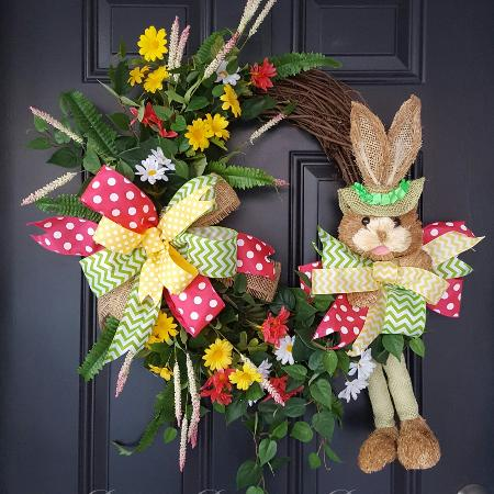 Used, Easter handmade vine wreath for sale  Canada
