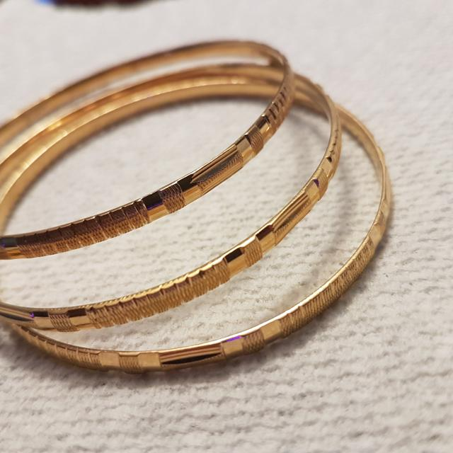 bracelet filled resistant large tarnish solid diamond made bangles usa real products link cuban gold bangle cutting