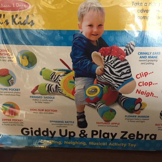 Giddy Up Play Zebra By Melissa Doug