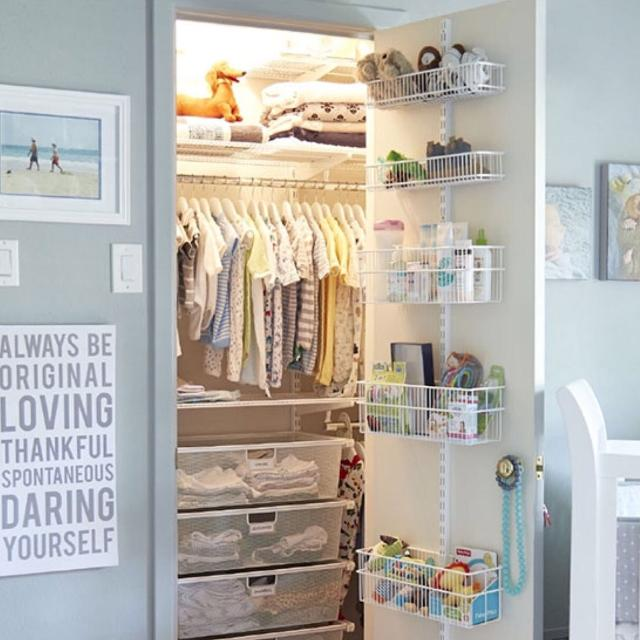 The Container Elfa Pantry Closet Door Organizer With Wall Rack Like New Poms
