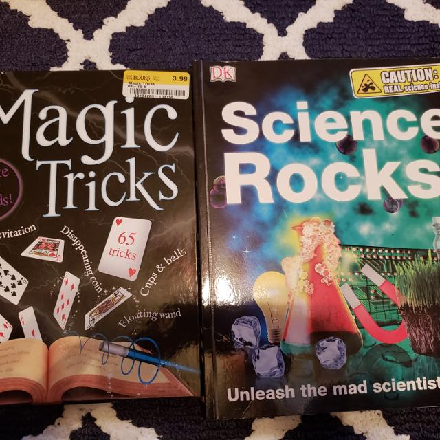 1 Magic book and 1 Science book $2