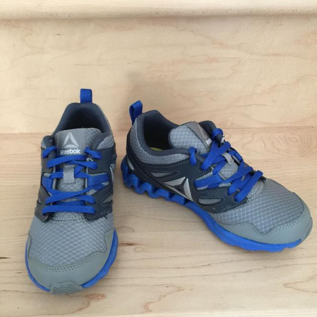 fb4976bd1282a7 Find more Reebok Blue   Grey Running Shoes For Boys - Size 12 for ...