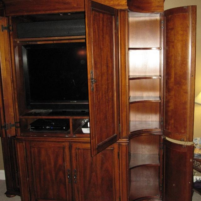 Best Hooker Solid Wood Tv Cabinet Armoire Entertainment ...