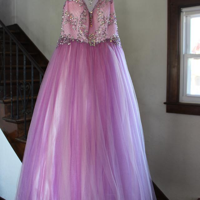 Best Prom Dress, Light Pink/light Purple Formal Size L (11) $70 for ...