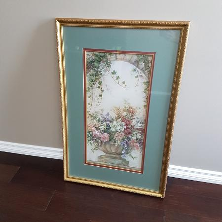 Wall Art - Framed Floral Picture -..., used for sale  Canada