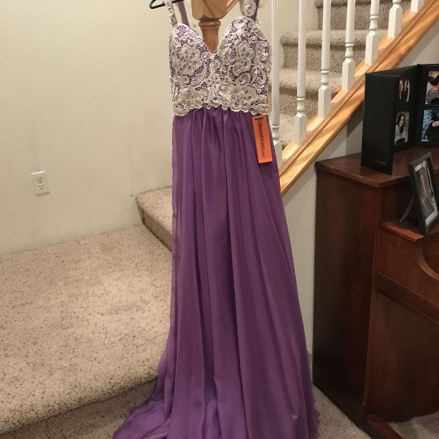 8062121c86b7d Best Brand New With Tags Purple Prom Dress With Lace And Sequins for sale  in Ellensburg