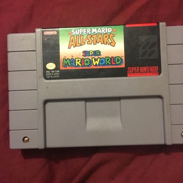 Super Nintendo super Mario all stars and world
