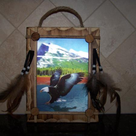 Used, 3D Eagle Picture/Carved Wood Frame... for sale  Canada
