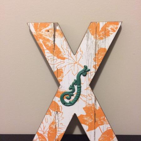 "Letter ""X"" Ornament rustic sign *new* for sale  Canada"