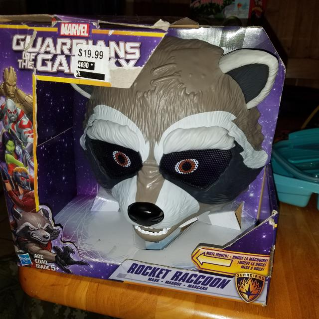 New! Guardians of the galaxy Rocket Raccoon mask