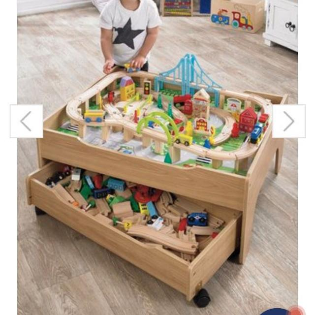 Find more Reversible City & Train Table With Approx 120 Piece Wooden ...
