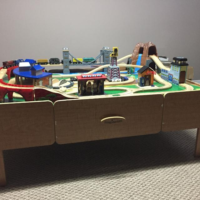 Best Imaginarium Train Table And Train Set, With Drawers for sale in ...