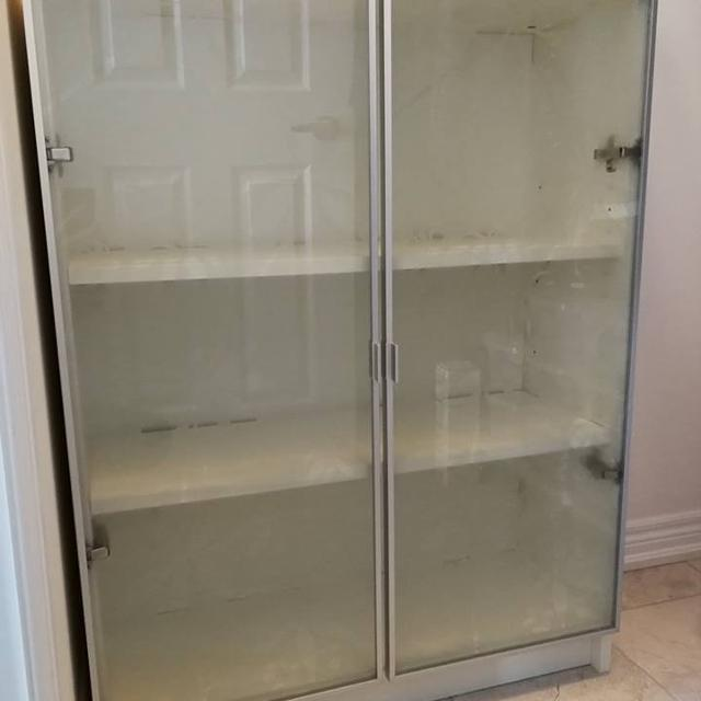 Find More White Billy Bookcase With Glass Door Ikea Shelves Unit For