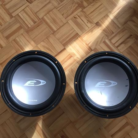 """Alpine Type E 12"""" subwoofer for sale  Canada"""