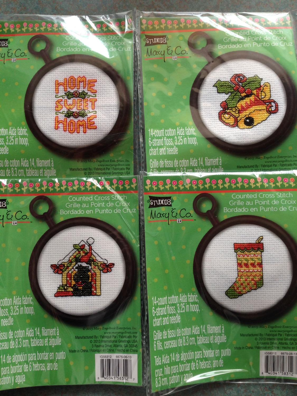 Best 4 325 Hoops Cross Stitch With Chart And Needle For Sale In