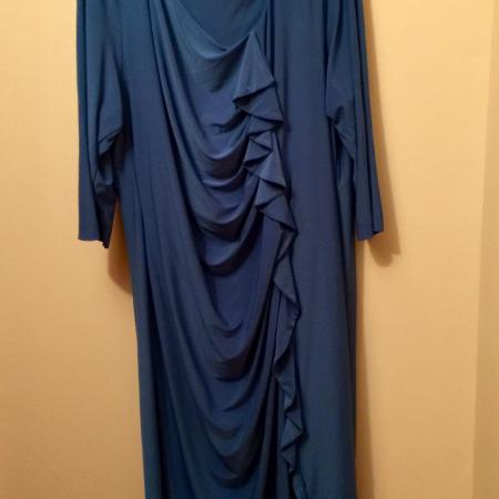 """Christine"" brand blue dress $4 for sale  Canada"