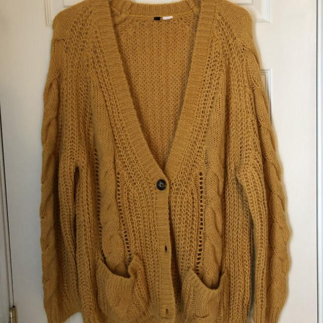 Find More Hm Oversized Mustard Yellow Cardigan Sweater Size M For