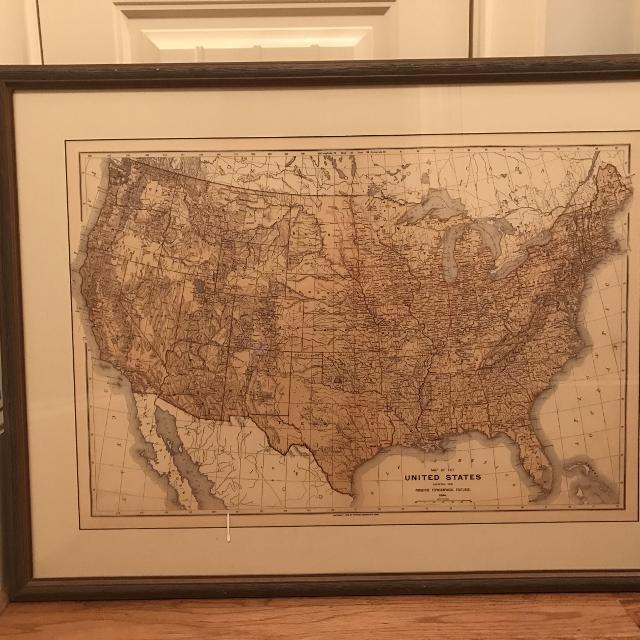 United States Map Picture Frame.Find More United States Map With Custom Frame For Sale At Up To 90 Off