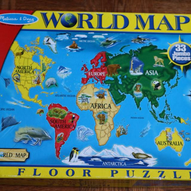 Best melissa and doug world map for sale in dollard des ormeaux melissa and doug world map gumiabroncs Gallery