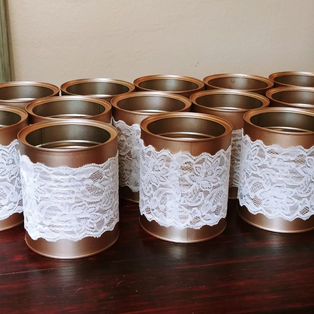 Best 17 Rose Gold And Lace Tin Vases For Sale In Friendswood Texas