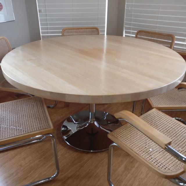 Best Italian Butcher Block Dining Table With Six Chairs For Sale In Whidbey Island Washington For 2021