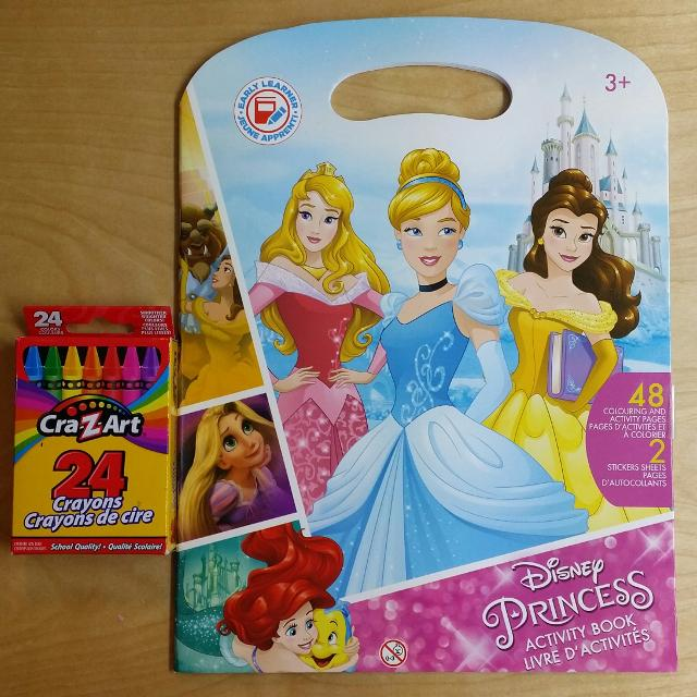 New Disney Princess Coloring And Activity Book With 24 Pack Of Crayons