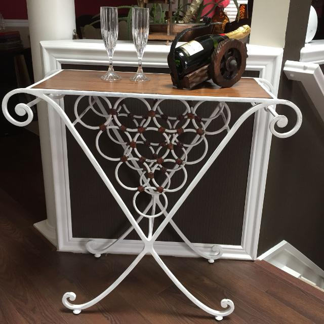 Find More Heavy Beautiful Shabby Chic Wrought Iron Wine Racktable