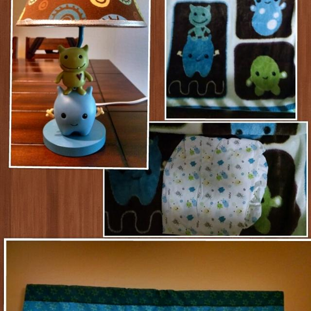 Cocalo Baby K A Boo Monsters Crib Bedding Set
