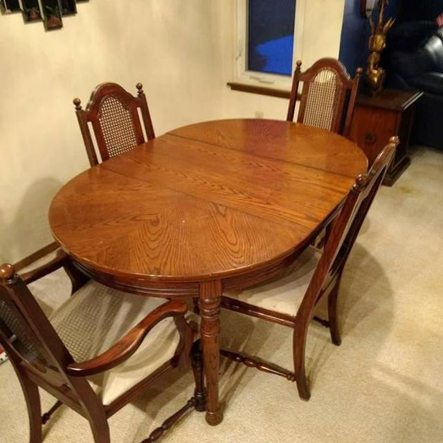 Philadelphia House Dining Table With Cane Back Chairs