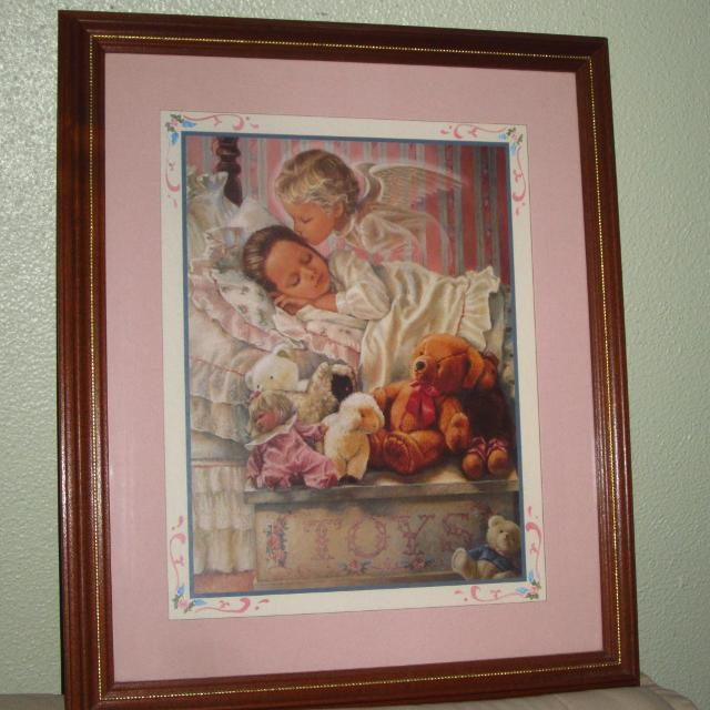 Best Beautiful Home Interiors Framed Art With Angel Child For Sale Interesting Home Interior Framed Art