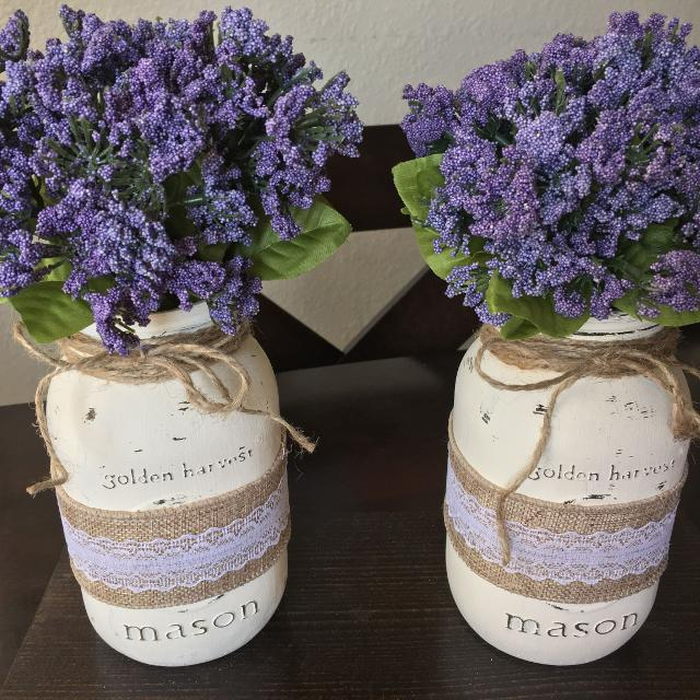 Best Pair Of Mason Jar Flower Arrangements 15 For Sale In El Paso Texas For 2020