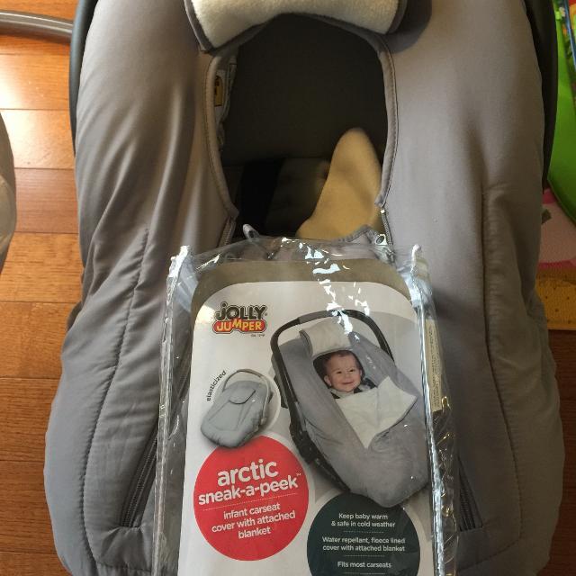 973e1b9f3 Best Jolly Jumper Sneak-a-peek Deluxe Infant Car Seat Cover In Grey ...