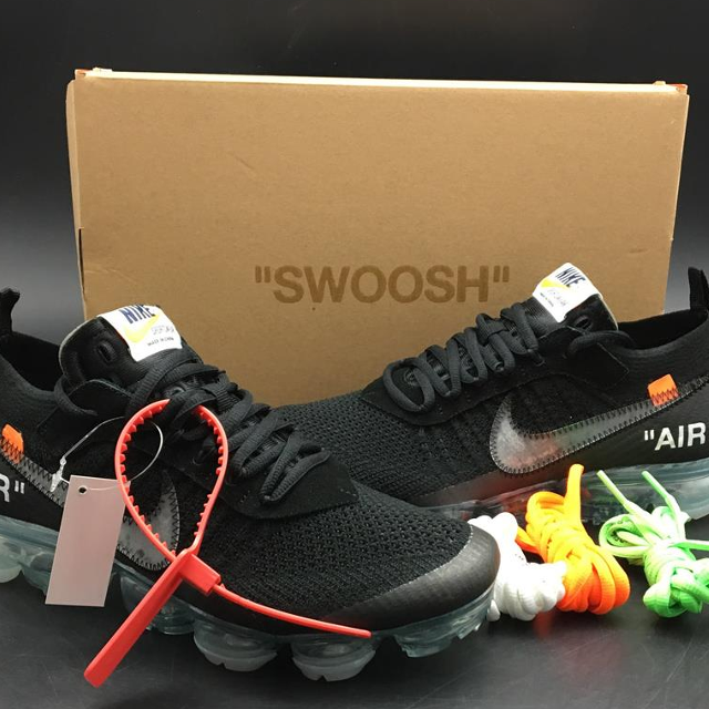 online retailer aaba5 0e8fa 2018 Off-White x Nike Air VaporMax Black/Total Crimson-Clear