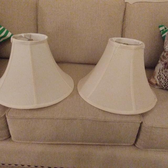 Find more 2 ivory lamp shades for sale at up to 90 off germantown tn 2 ivory lamp shades mozeypictures Images