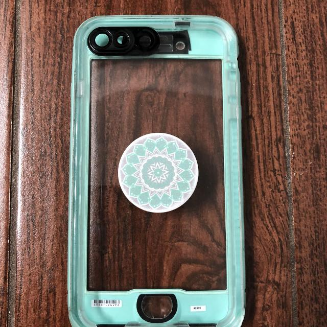 best service fb824 d61a2 iPhone 7 Plus lifeproof nuud case & popsocket