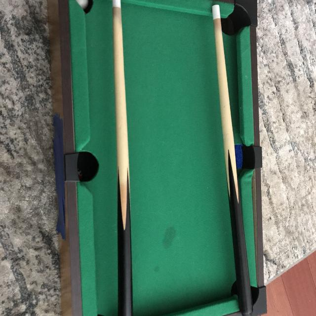 Best Mini Pool Table Set With Two Cues And Pool Balls for sale in ...