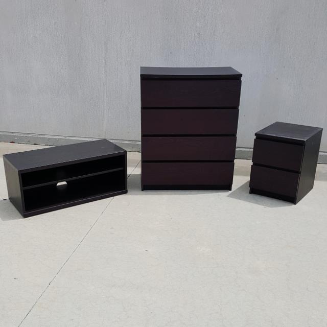 Find More Ikea Malm 4 Drawer Dresser 2 Drawer Nightstand And Mosjo