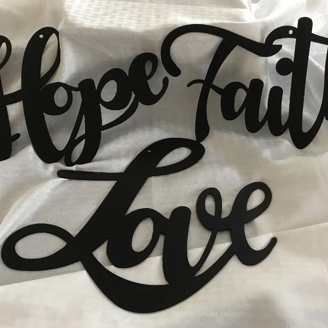 New Metal Signs Faith Love Hope