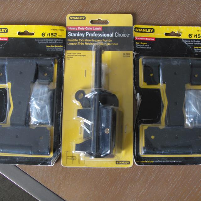 Stanley Gate Latch and Tee Hinges